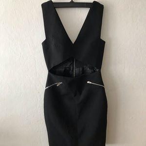Open Front Black Dress from Zara
